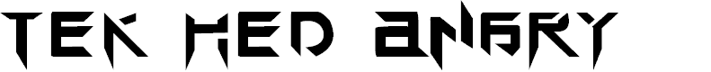 Preview image for TEK HED ANGRY Font
