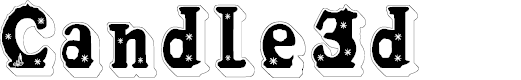 Preview image for Candle3d Font