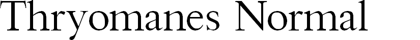 Preview image for Thryomanes Normal Font