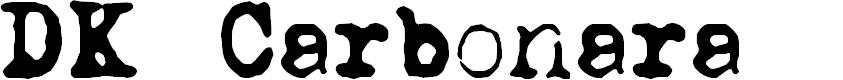 Preview image for DKCarbonara Font