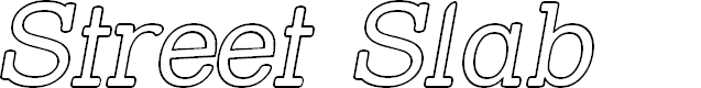 Preview image for Street Slab - Outline Italic
