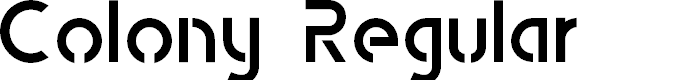 Preview image for Colony Regular Font