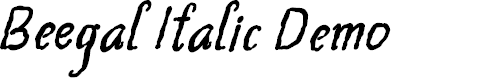 Preview image for Beegal Italic Demo