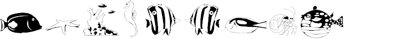 Preview image for Poissons marins Font