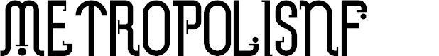 Preview image for MetropolisNF Font