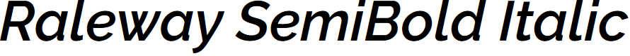 Preview image for Raleway SemiBold Italic