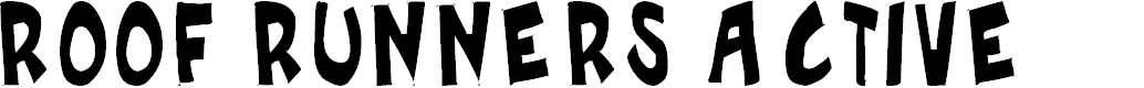 Preview image for Roof runners active Font
