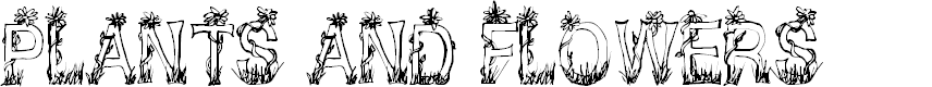 Preview image for CF Plants and Flowers Regular Font
