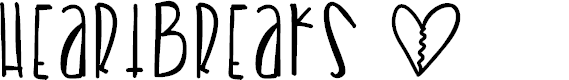 Preview image for Heartbreaks Font