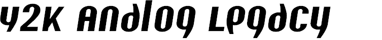 Preview image for Y2K Analog Legacy Italic