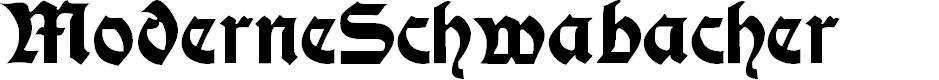 Preview image for ModerneSchwabacher Font