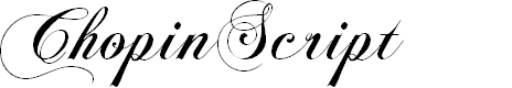 Preview image for ChopinScript Font