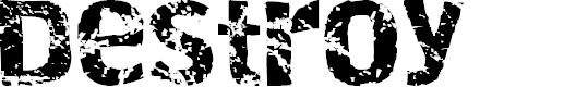 Preview image for Destroy Font