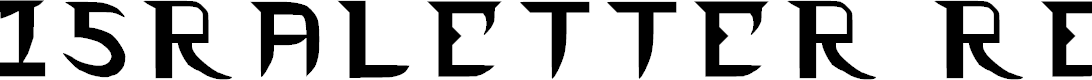Preview image for Israletter Regular Font
