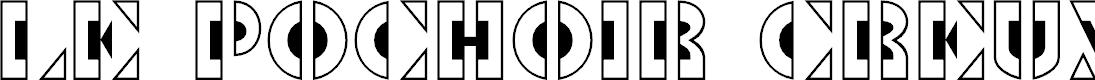 Preview image for Le Pochoir Creux Font