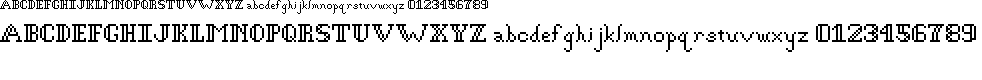 Preview image for Gothic Pixel Regular Font