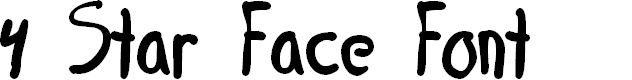 Preview image for 4 Star Face Font