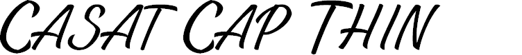 Preview image for Casat Cap Thin PERSONAL USE Font