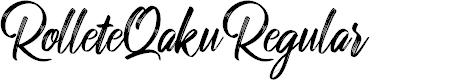 Preview image for RolleteQaku-Regular Font