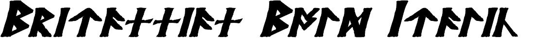 Preview image for Britannian Bold Italic