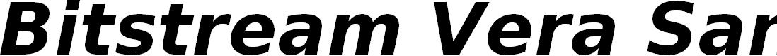 Preview image for Bitstream Vera Sans Bold Oblique