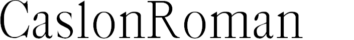 Preview image for CaslonRoman Font