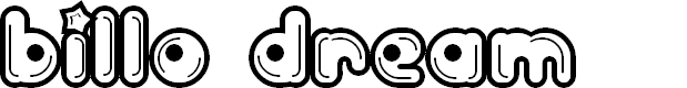 Preview image for Billo Dream Font
