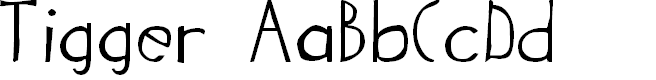 Preview image for Tigger Font