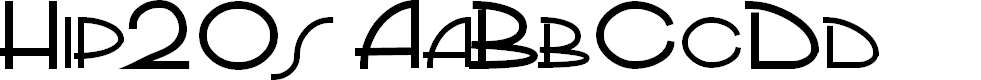 Preview image for PP_Hip20s Font