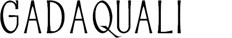 Preview image for GADAQUALI Font