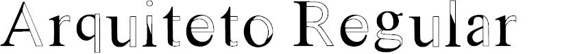 Preview image for Arquiteto Regular Font