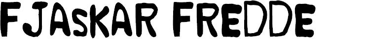 Preview image for Fjaskar Fredde Font