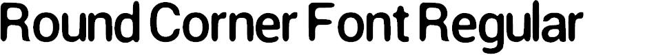 Preview image for Round Corner Font Regular Font