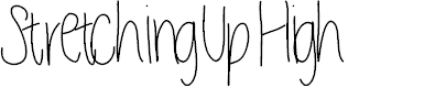 Preview image for StretchingUpHigh Font