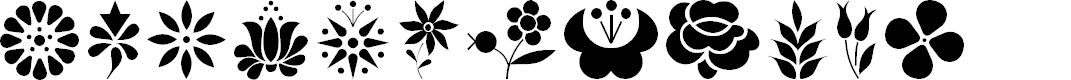 Preview image for Kalocsai Flowers Font