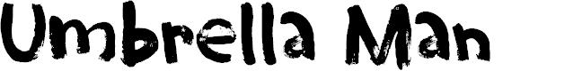 Preview image for Umbrella Man DEMO Regular Font