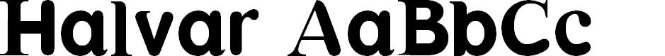 Preview image for Halvar Font