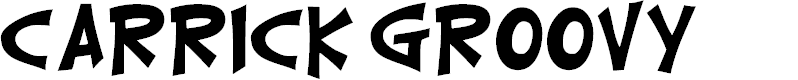 Preview image for CarrickGroovy Font