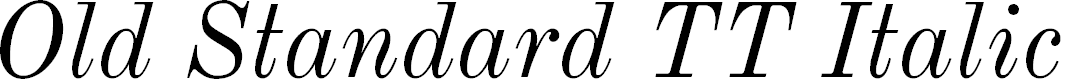 Preview image for Old Standard TT Italic