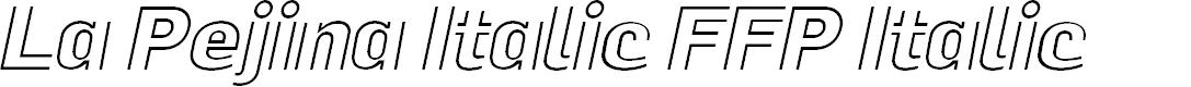 Preview image for La Pejina Italic FFP Italic