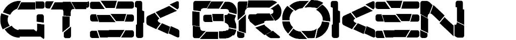 Preview image for Gtek Broken Font