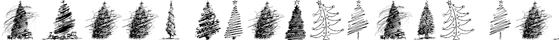 Preview image for Merry Christmas Trees Font