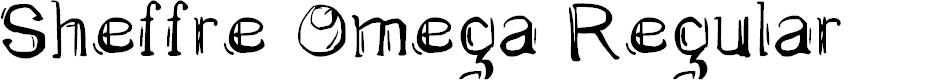 Preview image for Sheffre Omega Regular Font