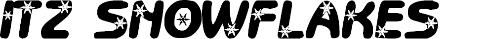 Preview image for LCR Itz Snowflakes Font