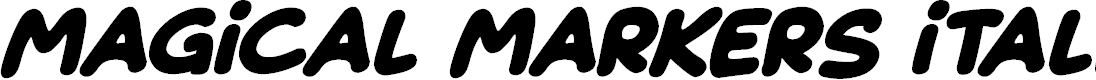 Preview image for Magical Markers Italic