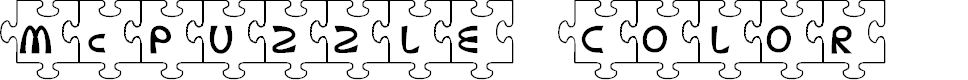Preview image for McPuzzle Color Font