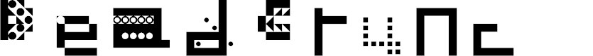 Preview image for Dead Crunc Regular Font