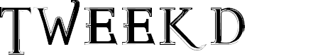 Preview image for TWEEKD Font