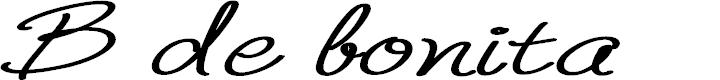 Preview image for B de bonita regular Font