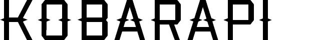 Preview image for Kobarapi Font